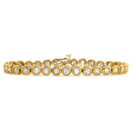 18K Gold 3.00ct H/si Diamond Bracelet, DBR02-3HSY
